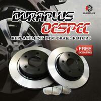 Rear OESpec Brake Rotors Ceramic Pads Fit 12-15 Fiat 500 Base