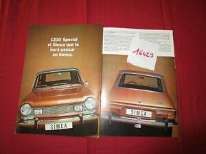 N°16429  / SIMCA 1200 Spécial catalogue 1973 CHRYSLER Espana