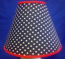 White Stars on Navy Lampshade Patriotic Handmade Lamp Shade