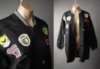 Women Black Military Army Patches Baggy Utility Track Bomber 223 mv Jacket S M L