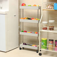 Hot Slim Storage Kitchen Bathroom Laundry Storage Trolley Rack Wheel Space Saver