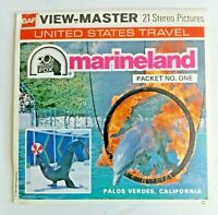 1975 Marineland Pacific Vintage Original View-Master 21 Stereo Pictures 3 Reels