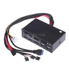 "All-in-One 5.25"" USB3.0 ESATA Multi Card Reader Media Dashboard Front Panel P3K0"