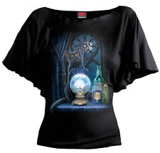 SPIRAL DIRECT THE WITCHES APRENTICE Boat Neck Viscose/Cat/Kitten/S-XXXXL/Top