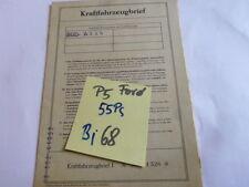 Brief Oldtimer 1968 Ford 17m 55 PS 17 m P5 21G 1,5 Liter Taunus Datenblatt WD
