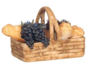 Dollhouse Miniature Filled Bread Basket #4374