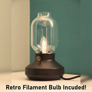 Retro Vintage Table Lamp Glass Industrial Dimmable Desk Reading Light Tarnaby