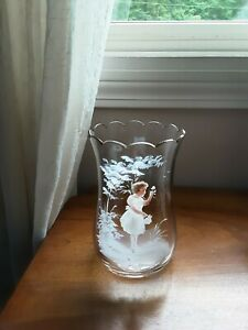 Beautiful Antique Mary Gregory  Glass Vase