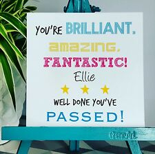 PERSONALISED Handmade Congratulations Well Done You've Passed Exams Card BAF