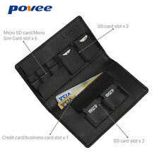 Black Aluminum Memory Card Storage Case Box Holder For 14 TF Micro SD Cards