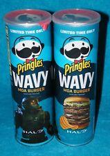 2 Cans PRINGLES MOA BURGER Limited Edition HALO WAVY Potato Chips Soooo Good...