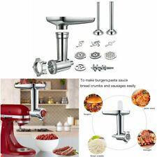 Steel Meat Grinder Sausage Stuffer Attachment Set For KitchenAid Stand Mixer