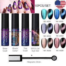 Nail Vision 10PCS/Set Cat Eye Soak Off UV Gel Nail Polish Magnet Stick Tool Kit