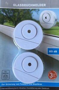 12x Glasbruchmelder Fensteralarm Fenster Tür Alarm Einbruchsschutz Alarmanlage