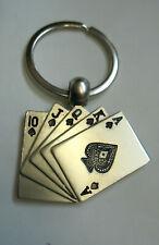 Schlüsselanhänger Poker Keychain Anhänger Skat Kartenspiel