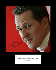 MICHAEL SCHUMACHER #3 Signed Photo Print 10x8 Mounted Photo Print - FREE DEL