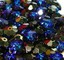 "Swarovski #3700 Margarita/Daisy Flower Beads 8 MM ""Heliotrope"" (12 Beads)"