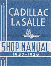 1937-1938 Cadillac and LaSalle Repair Shop Manual 37-38 Service Book V8 V12 V16