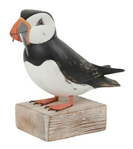Archipelago Hand Carved Wooden Birds Puffin Fishing