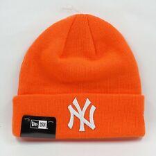 New Era Cap Men's MLB New York Yankees Team Neon Orange Winter Knit Beanie Hat