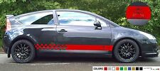 Sticker Decal for CITROEN C4 Light spoler VTS VTR KIT SKIRTS carbon springs rear