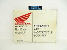 Oem Honda Dealer Warranty Flat Rate Manual Motorcycle Atv Scooter 1991-1999