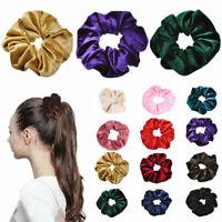 Velvet Scrunchies Ponytail Holder Hair Accessories-Lot Elastic Hair Band Fa A8G5