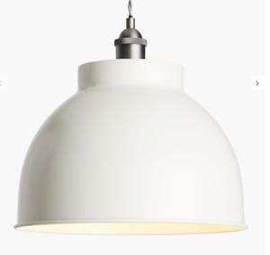 John Lewis & Partners Baldwin Large Pendant Ceiling Light, 33CM CREAM / MATT