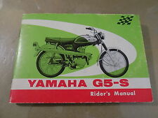 1969 Yamaha G5-S 73cc Factory Maintenance/Owner's/Rider Manual_Like New