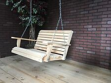 3ft Cypress Apartment Size Wood Wooden Contoured Seat Porch Yard Swing USA