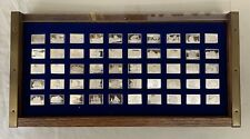 Great Sailing Ships Of History Franklin Mint 50 Bars Sterling Silver Ingot Set