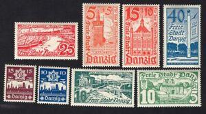 Poland 1935-37 8 stamps Mi#256-61+267-68 Danzig MH CV=10,50€