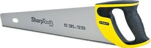 NEW Stanley TOOLS 20-526 15-Inch 12-Point / Inch SharpTooth HAND Saw 1493865