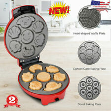 3-in-1 Electric Belgian Waffle Iron Cakes Snack Maker Non Stick Multi-Plate Us