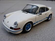 Porsche 911 Carrera RS 2.7 F-Modell weiß blau MInichamps Modellauto 1:18