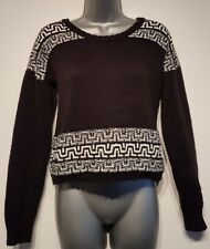 Size 6 Jumper NEW LOOK Black White Crop Oversized Great Condition Women's Casual