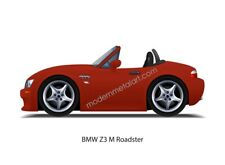 BMW E36 Z3 M Roadster Convertible S52 Imola Red II MCoupe MPower 1999 2000 Print