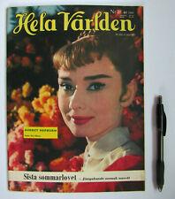 Audrey Hepburn SWEDEN Hela Varlden Magazine 1956 War and Peace