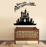 Wall Vinyl Decal Nursery Castle Quotes Ones Upon Time Fairytale Kids Decor z3794