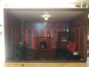 Lg. Elegant Witch/Wizard Dollhouse Miniature Room Box Display 1:12