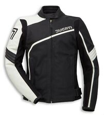Ducati leather jacket  Black And White with Black Strips