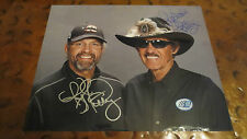 Richard & Kyle Petty The King signed autographed photo NASCAR STP 43 Daytona 500
