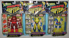3 X-MEN SHAPE SHIFTERS ACTION FIGURES JUGGERNAUT WOLVERINE MARVEL COMICS MIB NEW