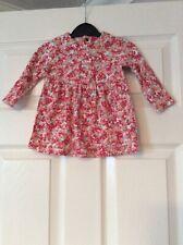 Joules Longsleeved Flower Patterned Dress 6-9 Months Vgc