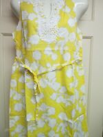 Yellow Crochet Neck Sleeveless Dress by Mud Pie, Size Small, NWT