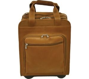 Piel Leather Vertical Office On Wheels Bag 2876 in Saddle Leather - NEW