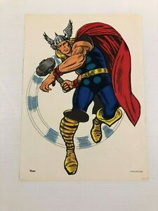 THOR  MMMS CLUB POSTER Marvel RARE Personality Poster 1966 Marvelmania
