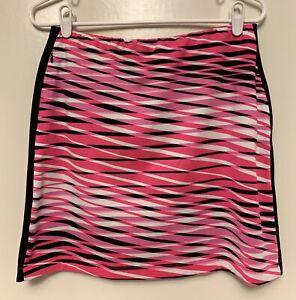 Tail White Label Women's Medium M Tennis Skirt Skort Undershorts Geometric Print