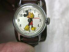 Vintage Ingersoll Mickey Mouse Watch 60's Ladies ~Teen Mechanical Runs