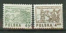 Polen Briefmarken 1977 Holzschnitte Mi.Nr.2537+2538 gestempelt